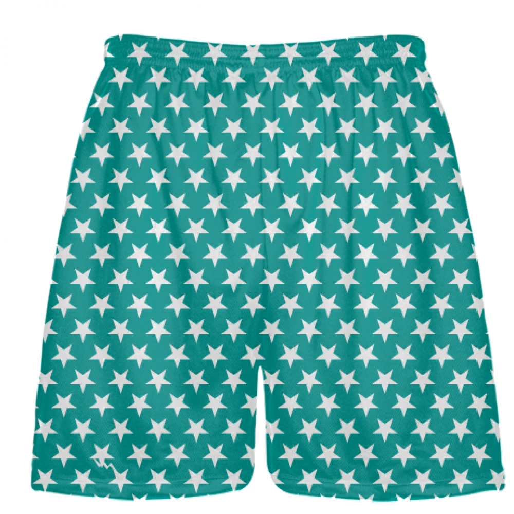 Teal+White+Stars+Shorts+-+Sublimated+Shorts