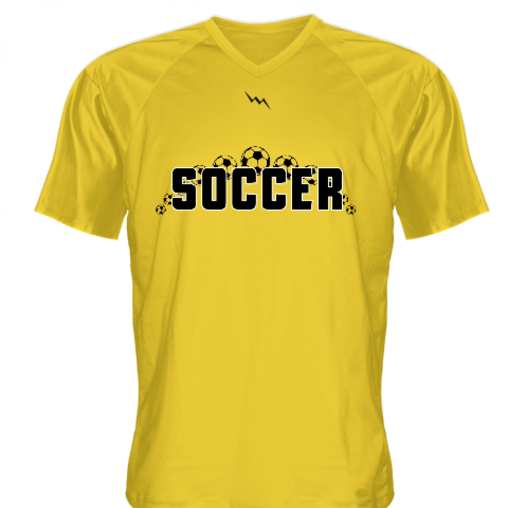 Gold+Soccer+Jerseys+V+Neck