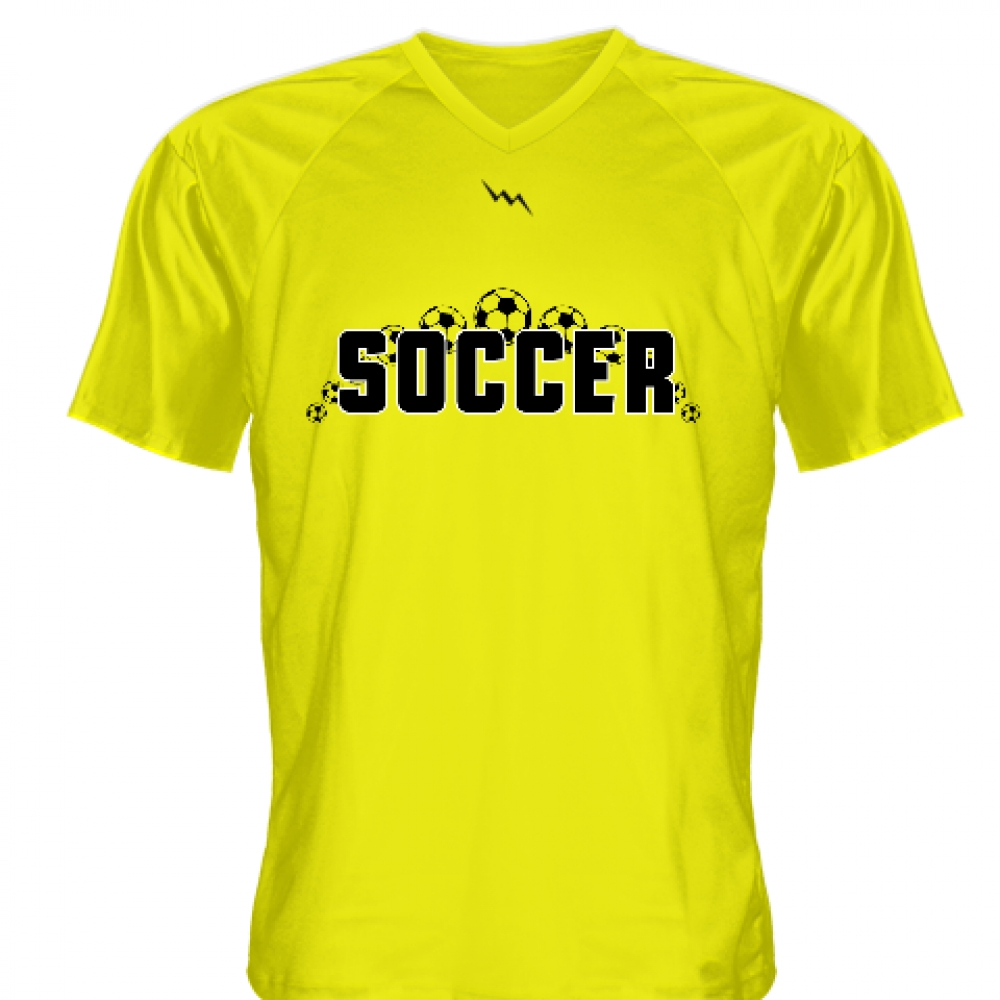 Yellow+Soccer+Jerseys+V+Neck