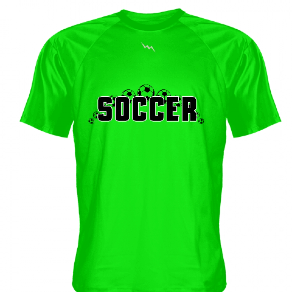 Neon+Green+Soccer+Jerseys+V+Neck