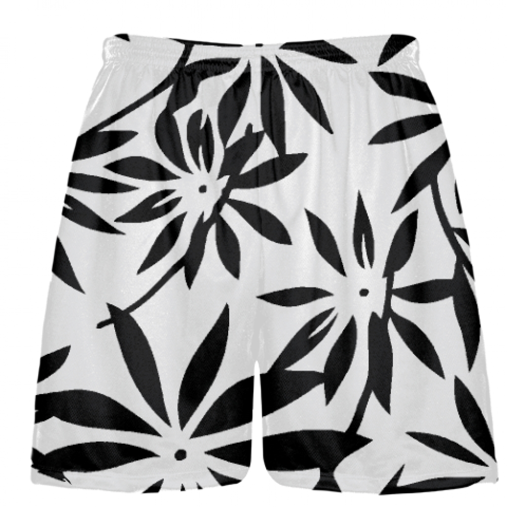 Black+Hawaiian+Lacrosse+Shorts+-+Black+Hawaiian+Basketball+Shorts