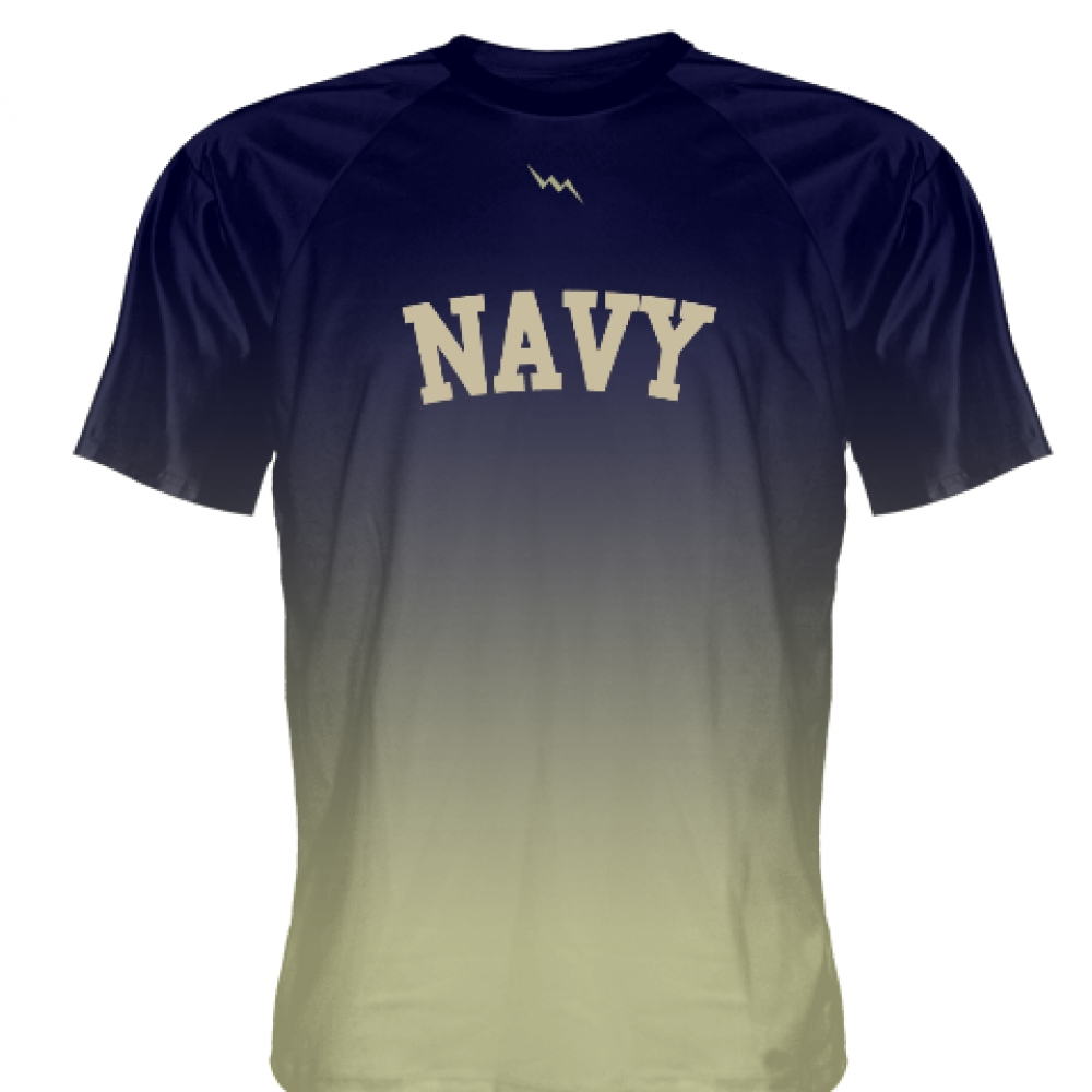 Navy+Blue+Vegas+Gold+Ombre+Navy+Shirt+-+Custom+Naval+Academy+Shirt