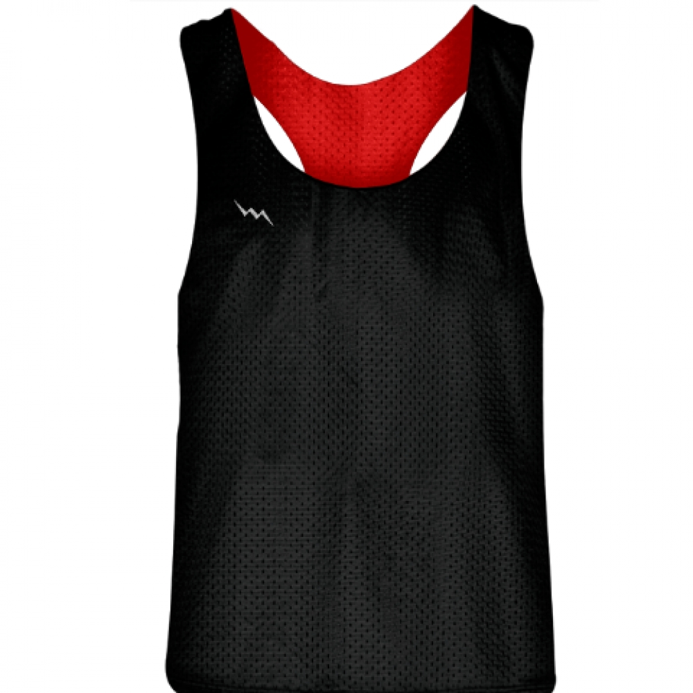 Blank+Womens+Pinnies+-+Black+Red+Racerback+Pinnies+-+Girls+Pinnies