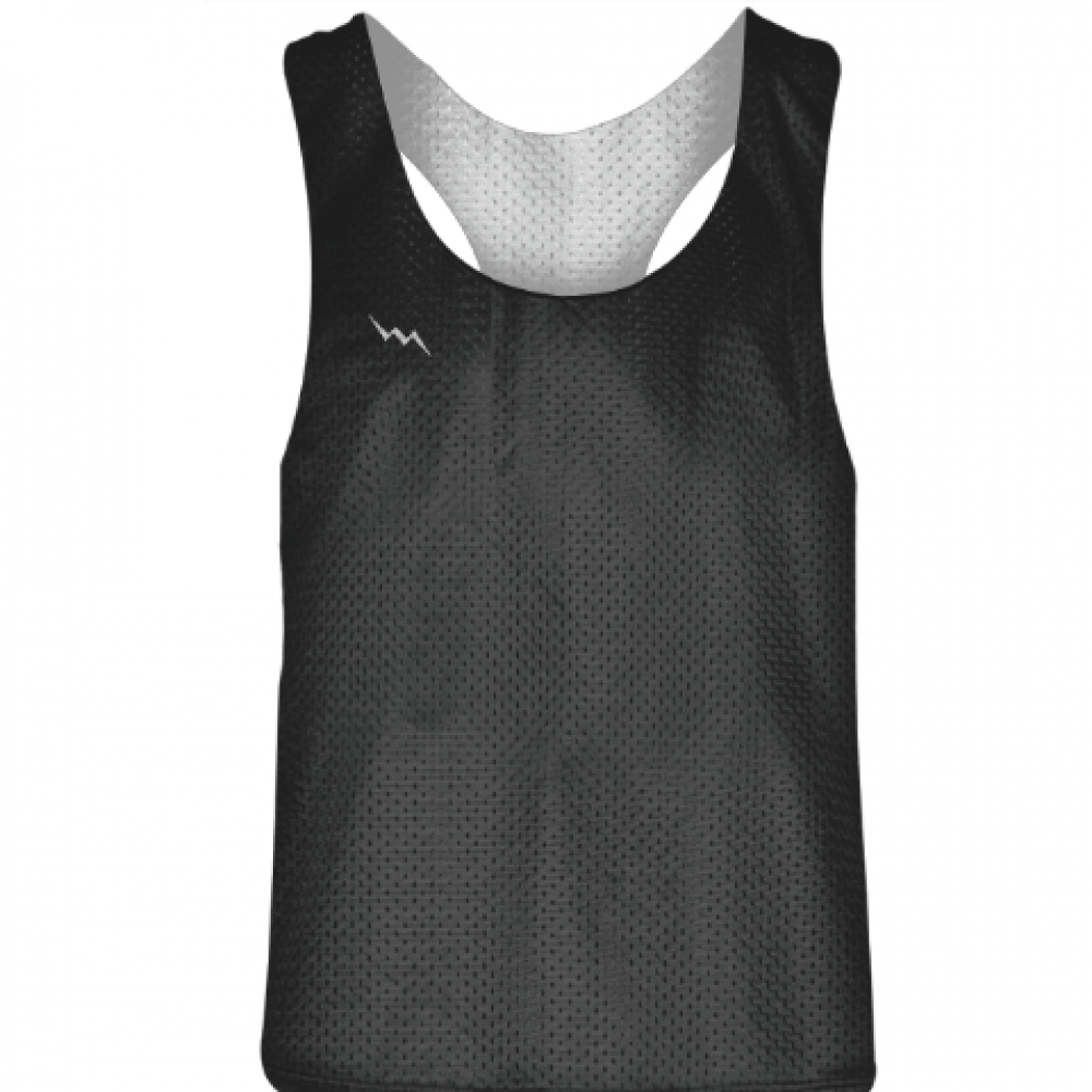 Blank+Womens+Pinnies+-+Charcoal+Grey+White+Racerback+Pinnies+-+Girls+Pinnies
