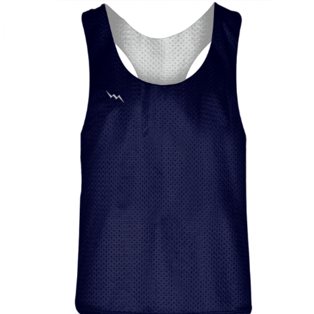 Blank+Womens+Pinnies+-+Navy+Blue+White+Racerback+Pinnies+-+Girls+Pinnies