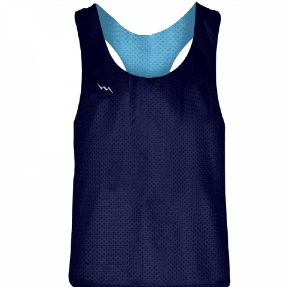Blank+Womens+Pinnies+-+Navy+Blue+Powder+Blue+Racerback+Pinnies+-+Girls+Pinnies