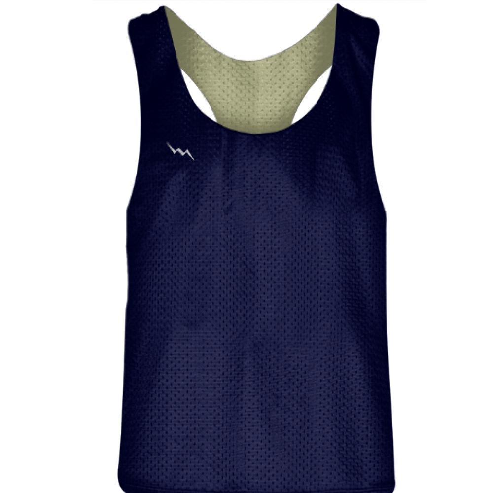 Blank+Womens+Pinnies+-+Navy+Blue+Vegas+Gold+Racerback+Pinnies+-+Girls+Pinnies