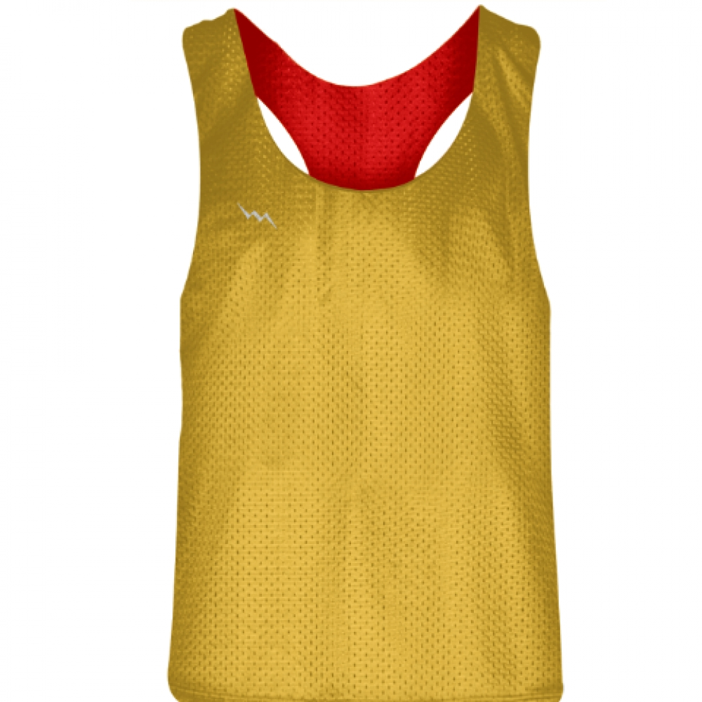 Blank+Womens+Pinnies+-Athletic+Gold+Red+Racerback+Pinnies+-+Girls+Pinnies