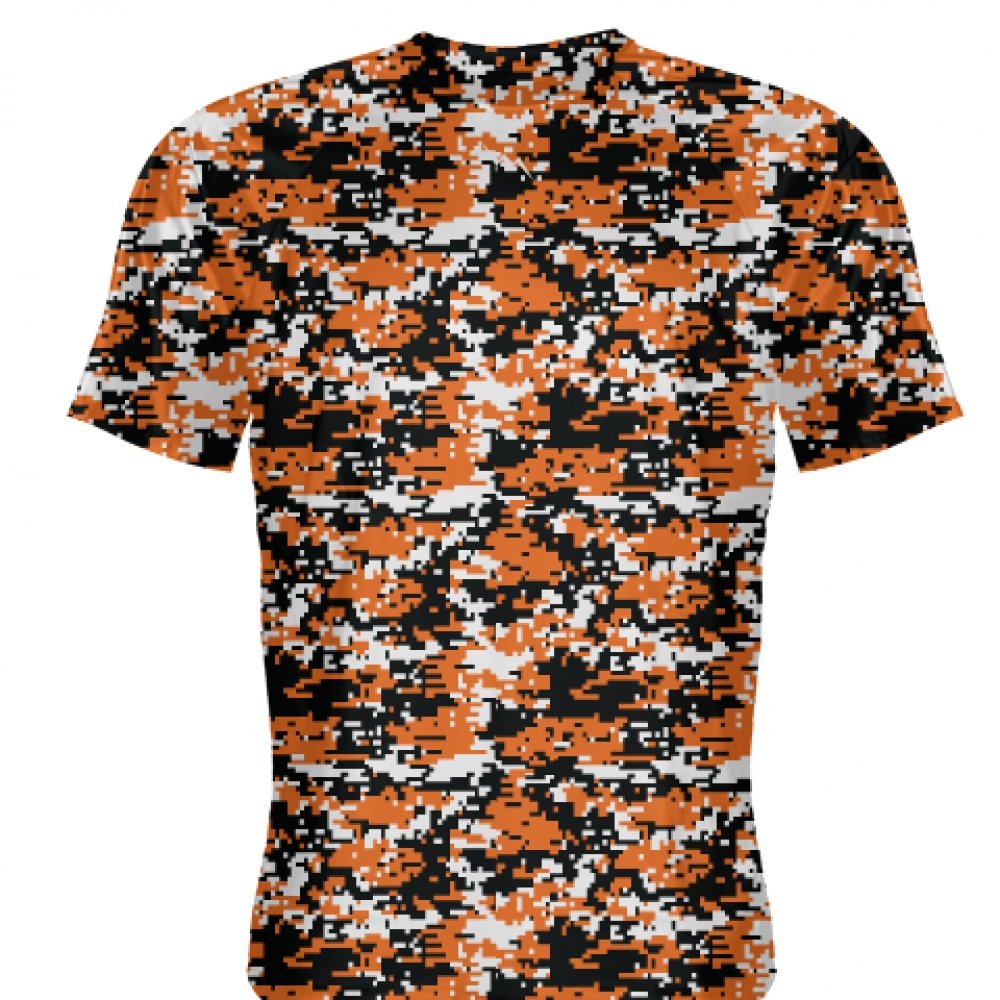 Orange+Black+Digital+Camouflage+Shirts+-+Adult+_and_+Youth+Camo+Shirts