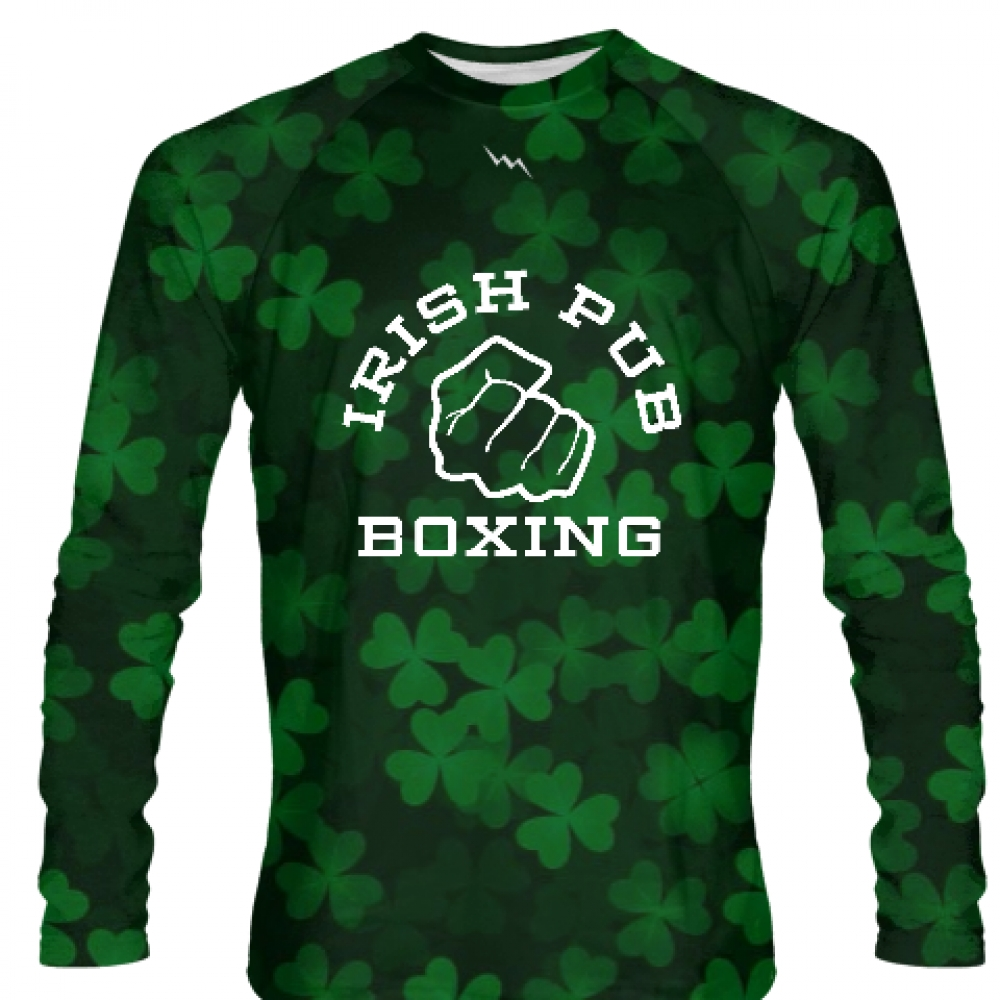Irish+Pub+Boxing+Long+Sleeve+Shirt+Shamrock