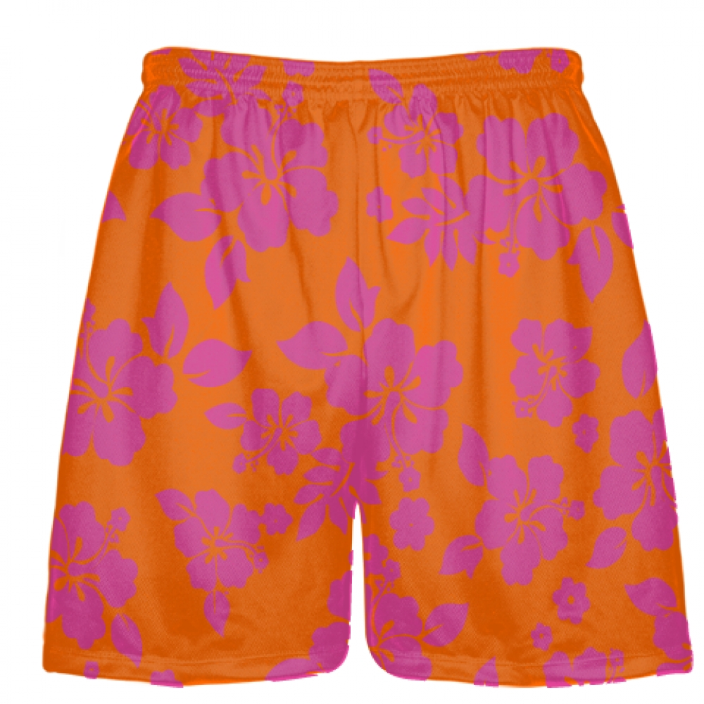 Pink+Orange+Hawaiian+Shorts+Accent