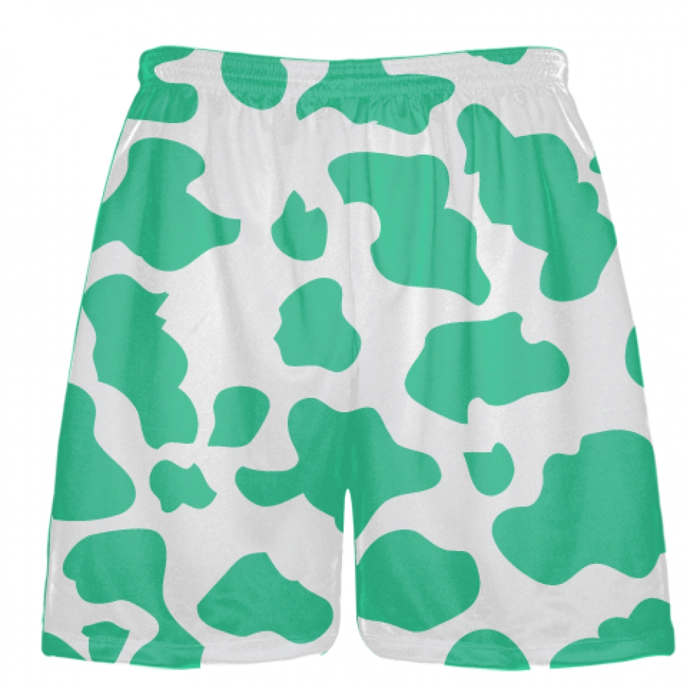 White+Teal+Cow+Print+Shorts+-+Cow+Shorts
