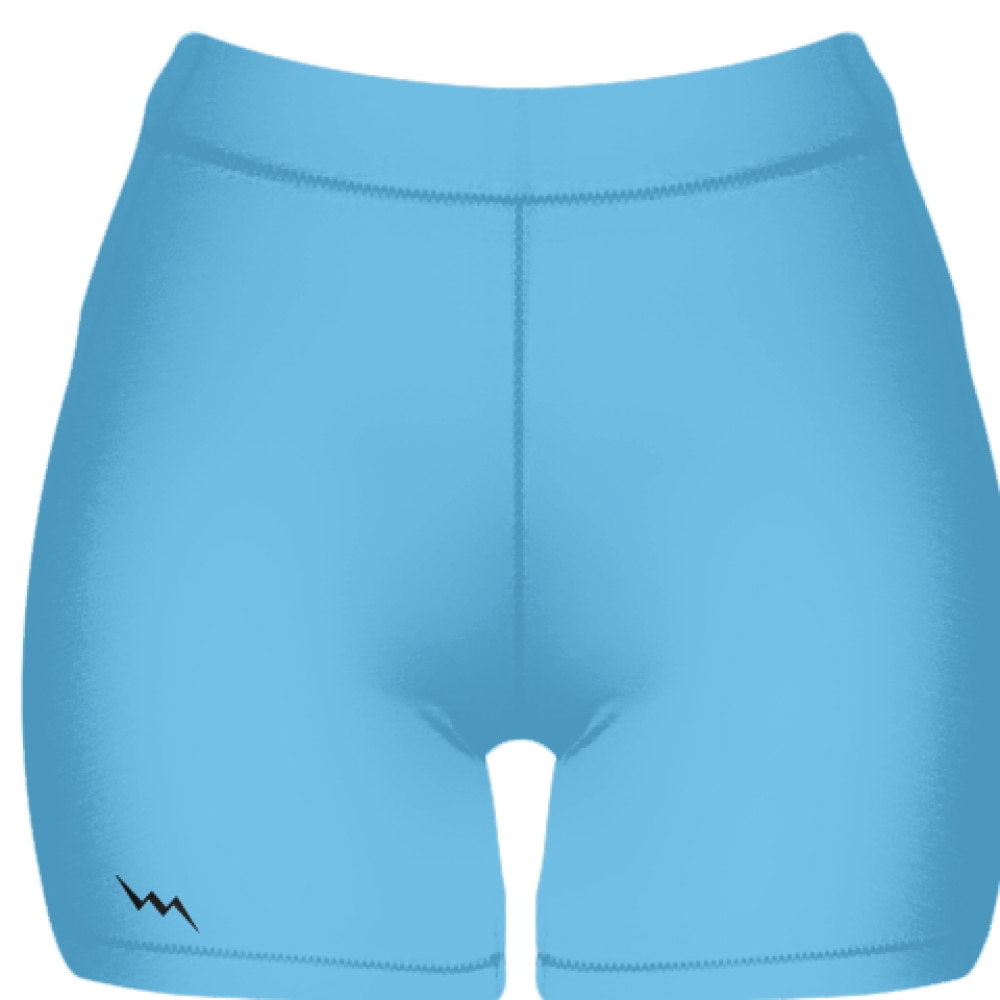 Powder+Blue+Spandex+Shorts+-+Womens+Spandex