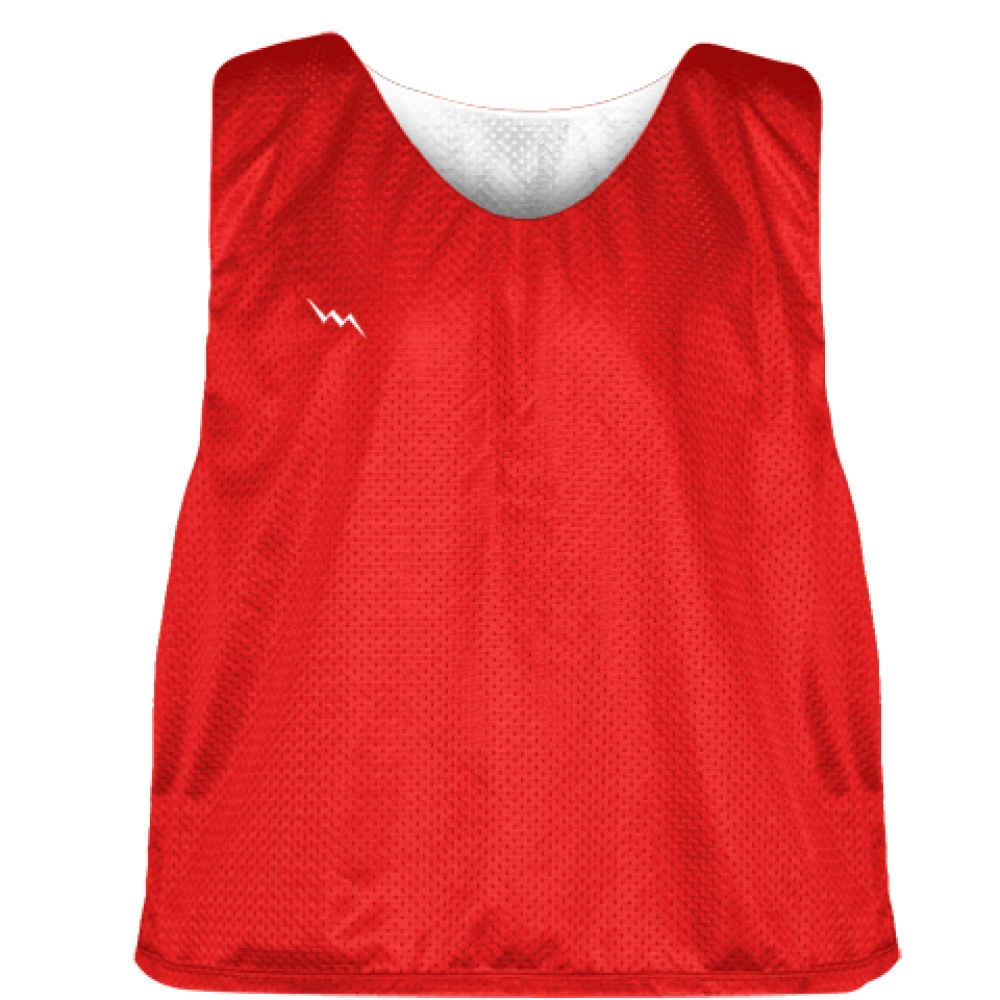 Lacrosse+Pinnies+Red+White