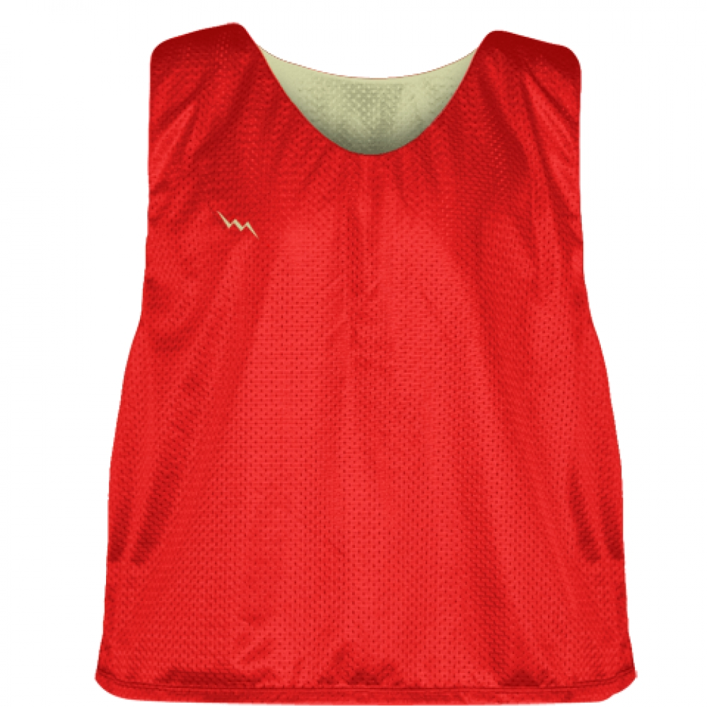 Lacrosse+Pinnies+Red+Vegas+Gold+-+Adult+Youth+Lacrosse+Reversible+Jersey