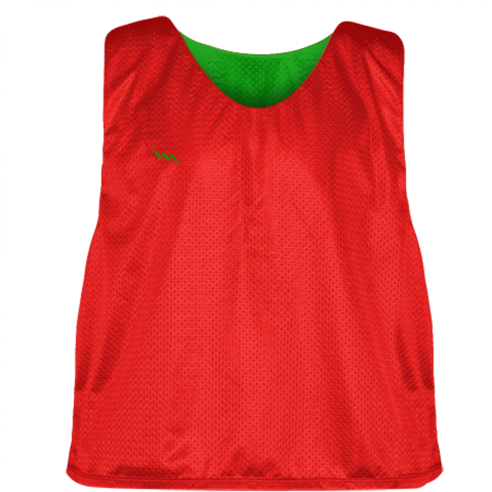 Lacrosse+Pinnies+Red+Kelly+Green+-+Adult+Youth+Lacrosse+Reversible