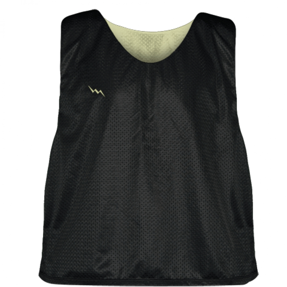 Lacrosse+Pinnies+Black+Vegas+Gold+-+Adult+Youth+Mesh+Reversible+Jerseys