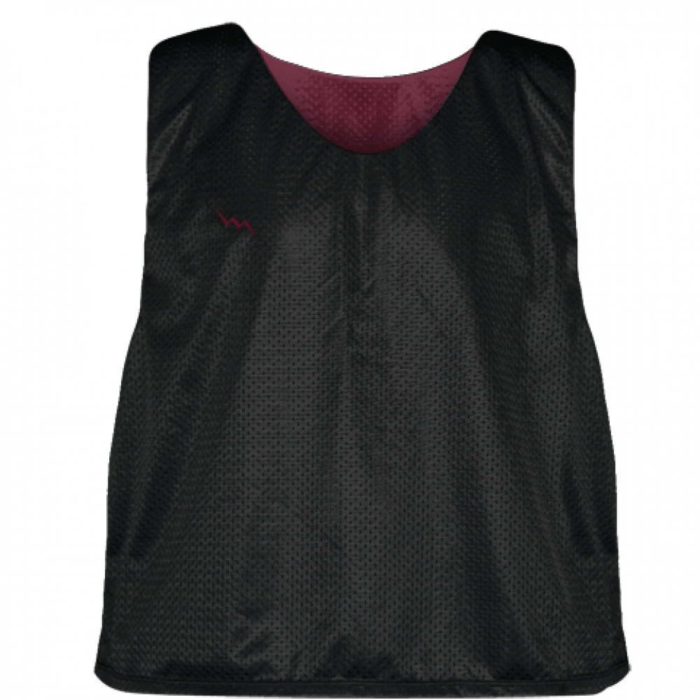 Lacrosse+Pinnies+Black+Maroon+-+Adult+Youth+Mesh+Reversible+Jerseys