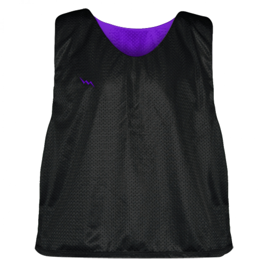 Lacrosse+Pinnies+Black+Purple+-+Adult+Youth+Mesh+Reversible+Jerseys