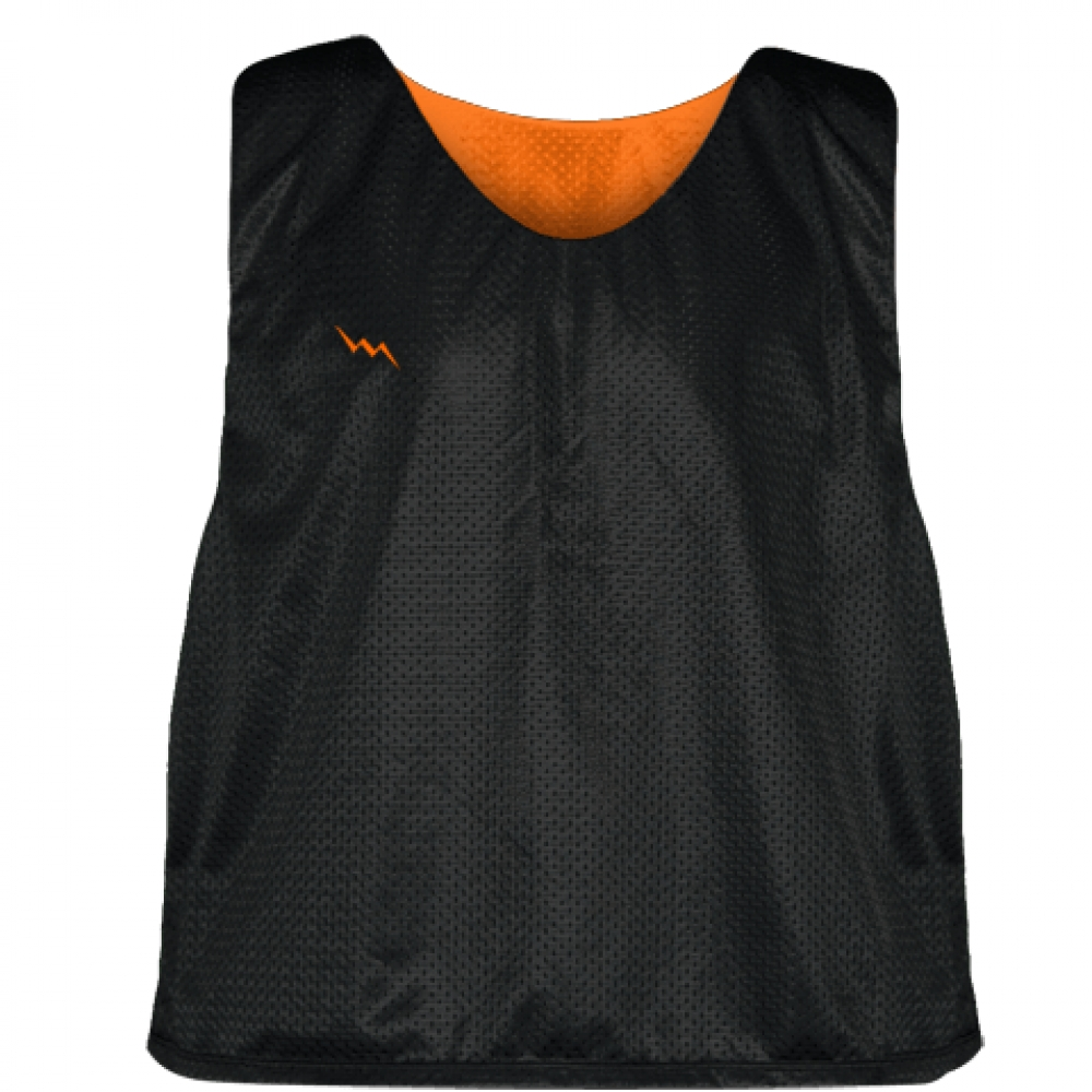 Lacrosse+Pinnies+Black+Orange+-+Adult+Youth+Mesh+Reversible+Jerseys
