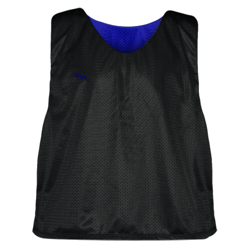 Lacrosse+Pinnie+Black+Royal+Blue+-+Youth+Adult+Mesh+Reversible+Jerseys