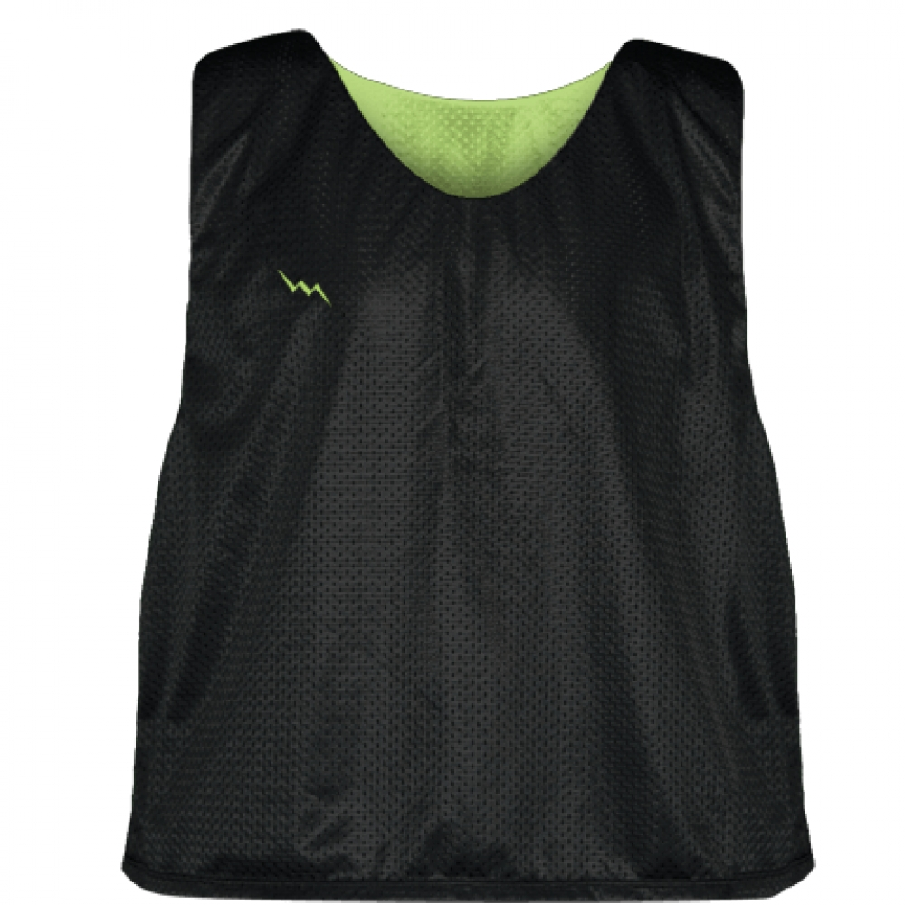 Lacrosse+Pinnie+Black+Lime+Green+-+Youth+Adult+Mesh+Reversible+Jerseys