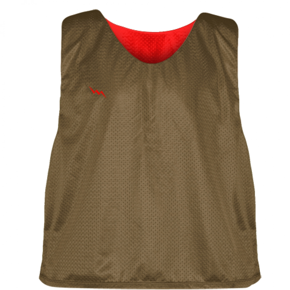 Pinnies+-+Lacrosse+Pinnies+Brown+Red+-+Mens+Kids+Mesh+Jerseys