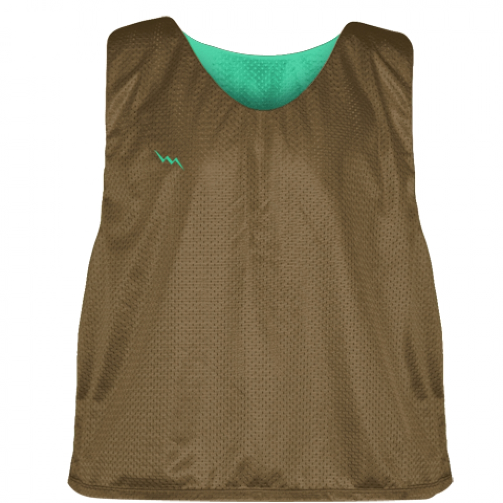 Pinnies+-+Lacrosse+Pinnie+Brown+Teal+-+Youth+Adult+Mesh+Jerseys