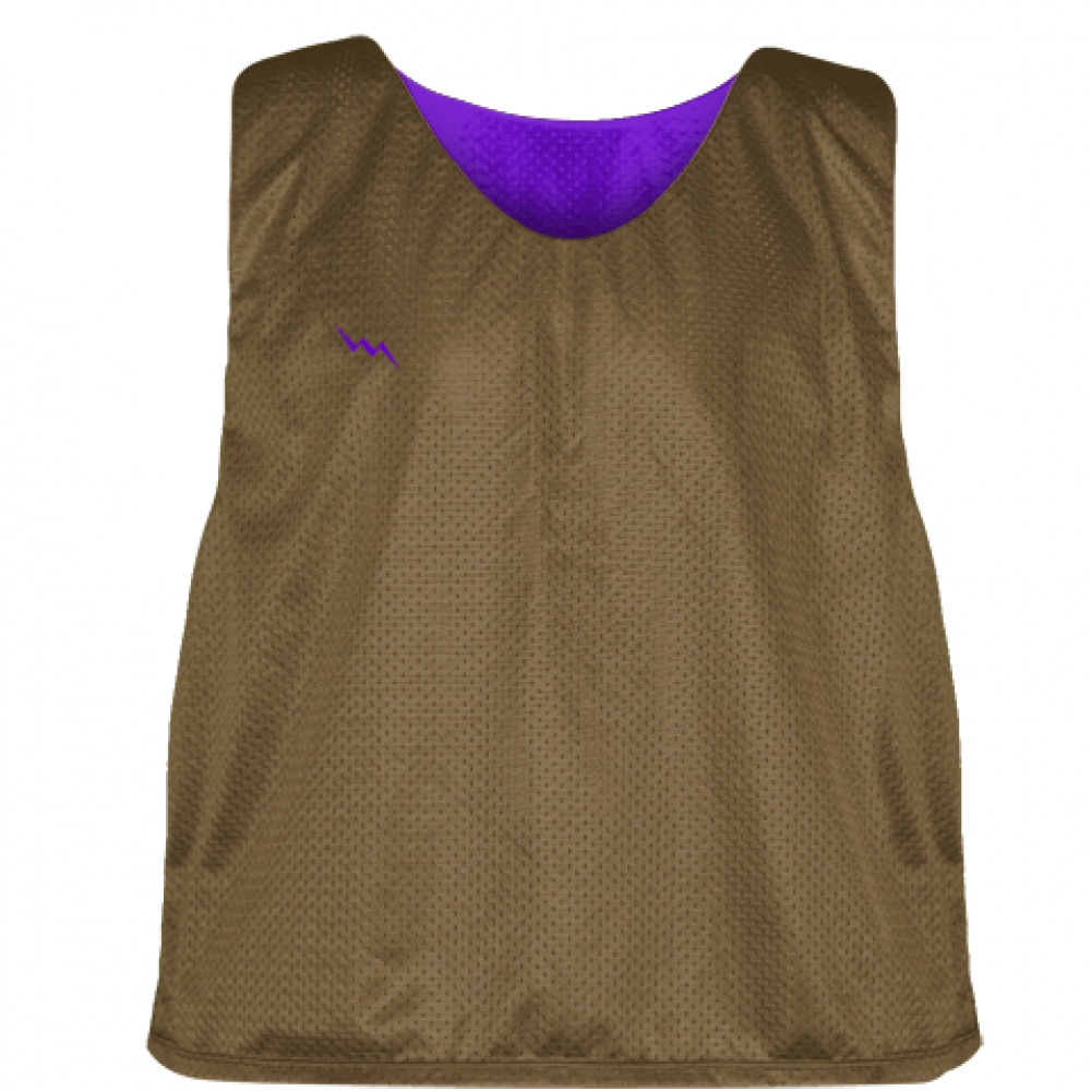 Pinnies+-+Lacrosse+Pinnie+Brown+Purple+-+Youth+Adult+Reversible+Mesh+Jerseys