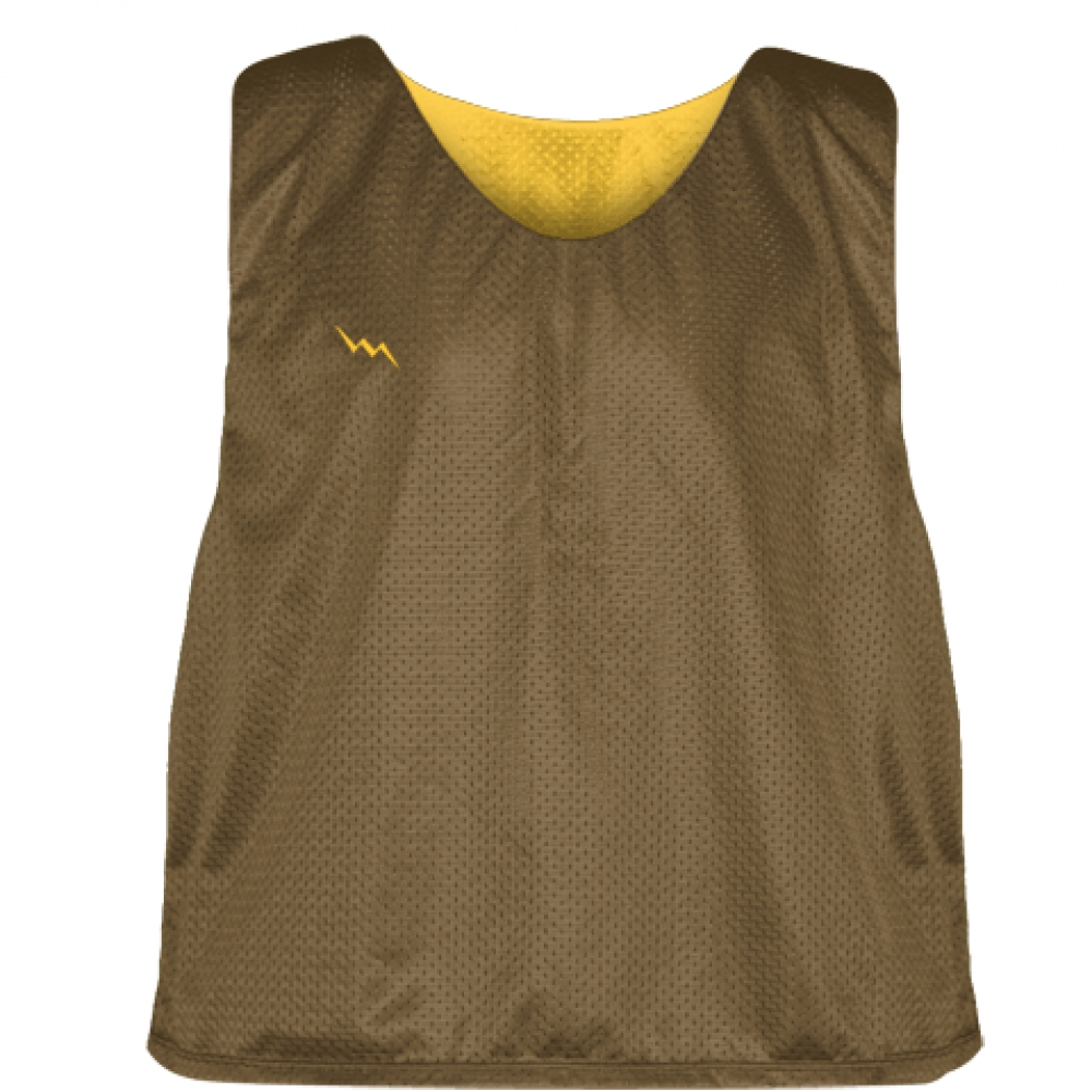 Lax+Pinnie+Brown+Athletic+Gold+-+Mens+Boys+Lacrosse+Practice+Jerseys