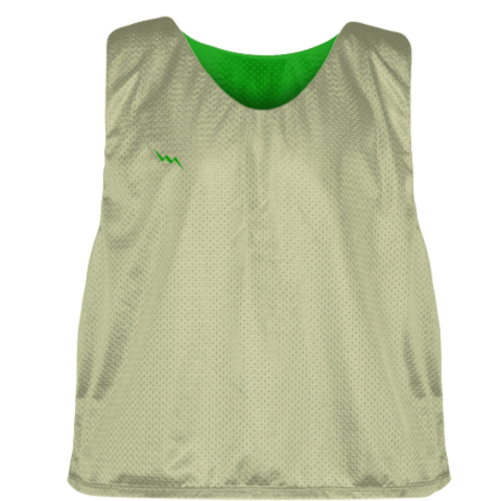 Vegas+Gold+Kelly+Green+Lacrosse+Pinnies+-+Mesh+Reversible+Jersey