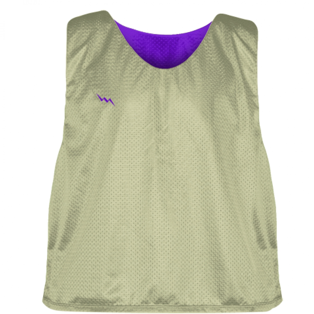 Vegas+Gold+Purple+Lacrosse+Pinnies+-+Mesh+Reversible+Jersey
