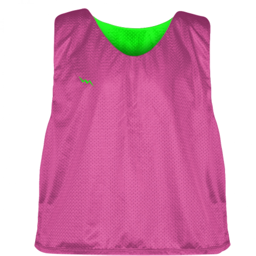 Hot+Pink+Neon+Green+Lacrosse+Pinnies+-+Lax+Pinnies