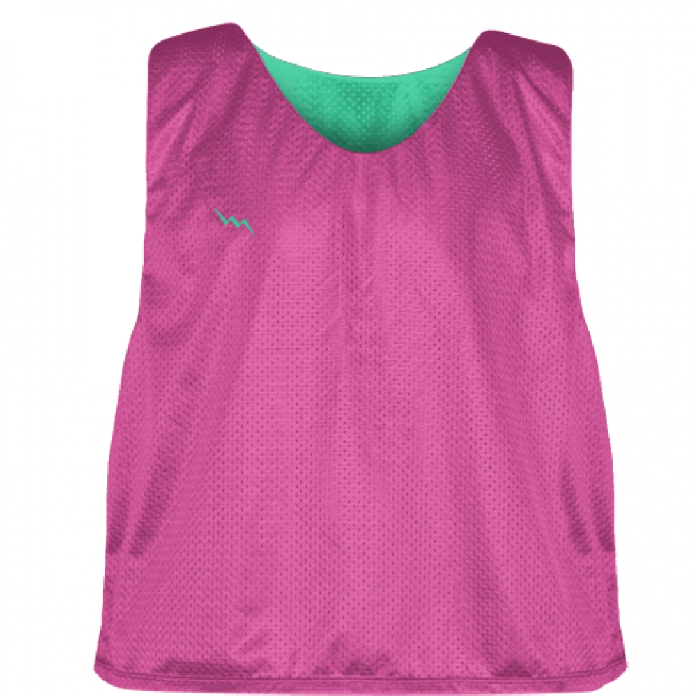Hot+Pink+Teal+Lacrosse+Pinnies+-+Lax+Pinnies