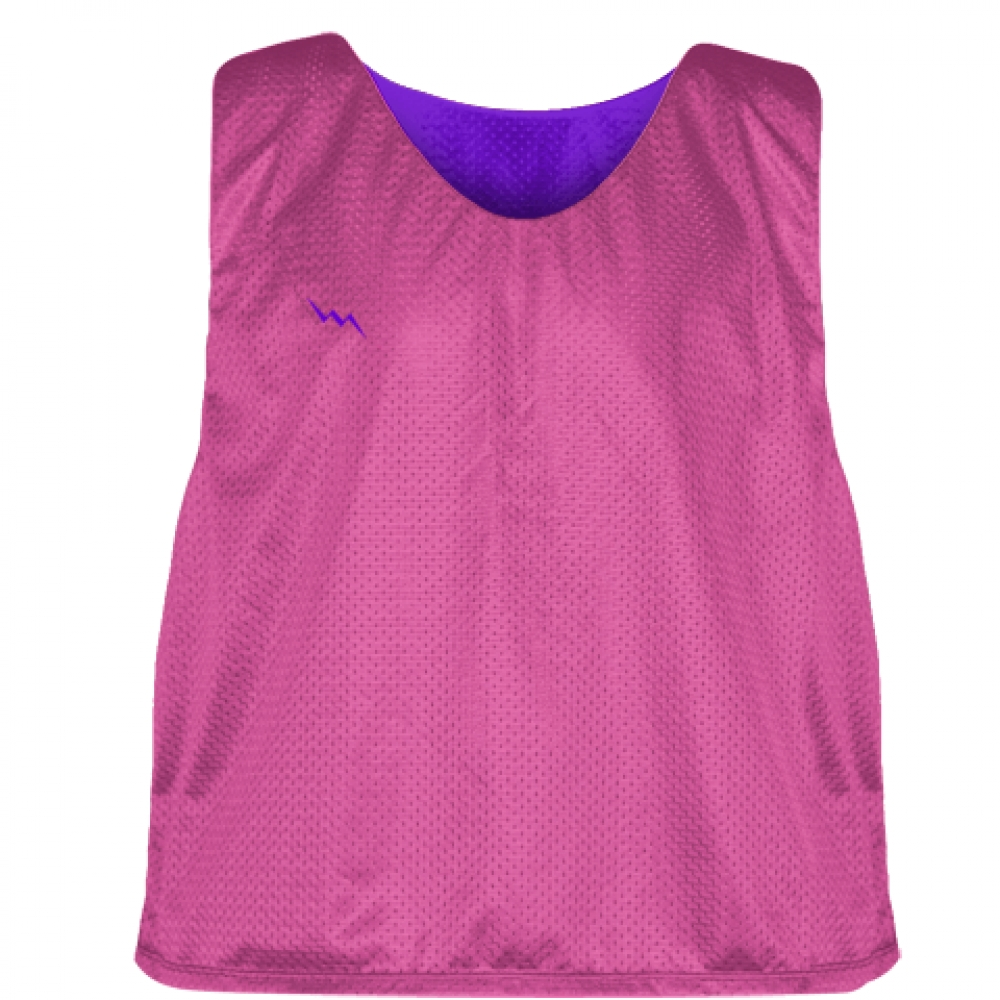 Hot+Pink+Purple+Lacrosse+Pinnies+-+Lax+Pinnies