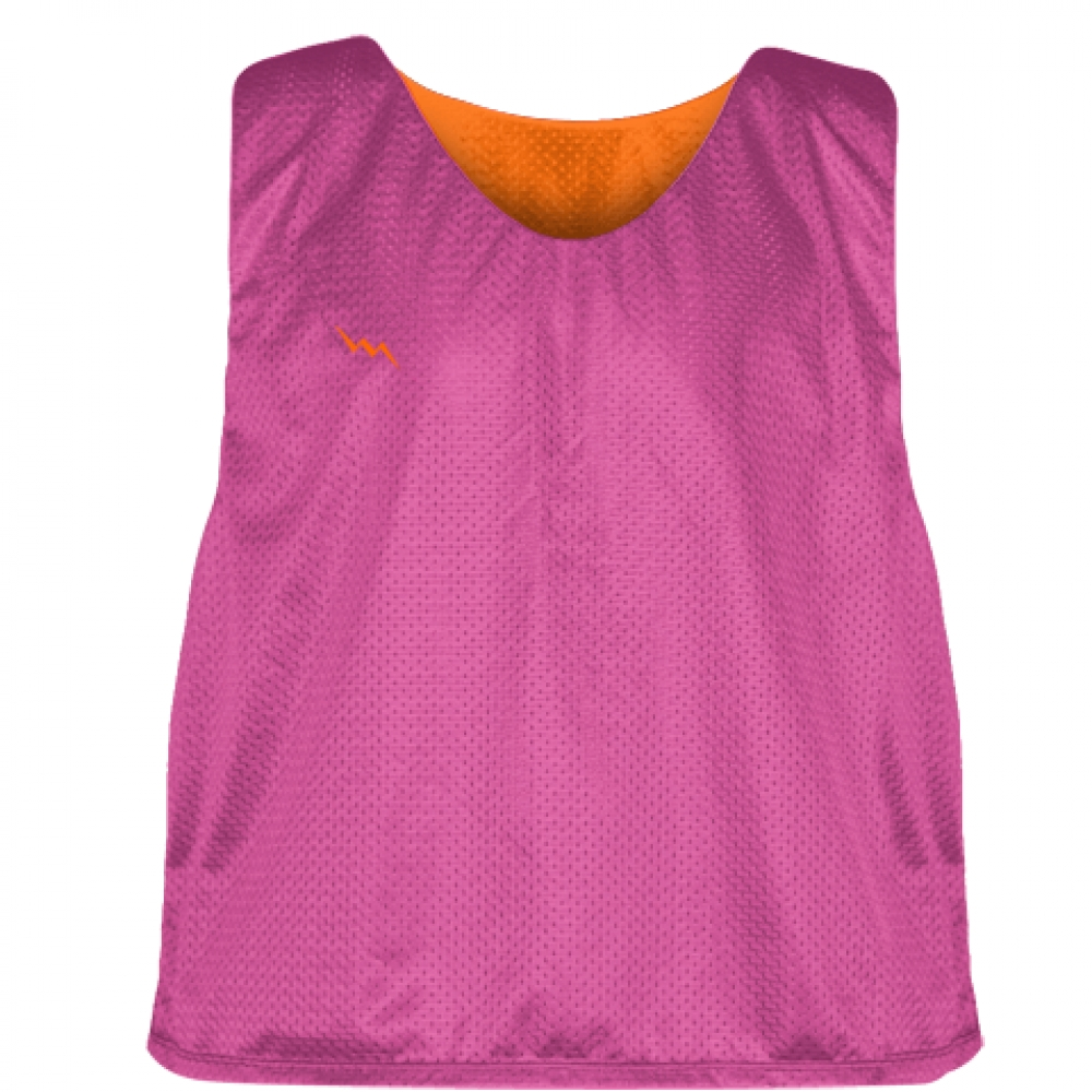 Hot+Pink+Orange+Lacrosse+Pinnies+-+Lax+Pinnies