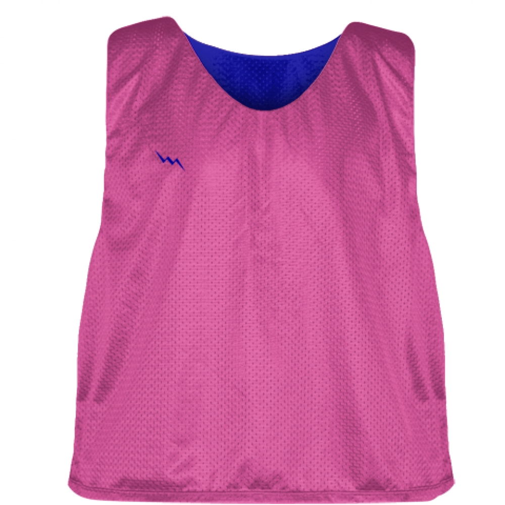 Hot+Pink+Royal+Blue+Lacrosse+Pinnies+-+Lax+Pinnies