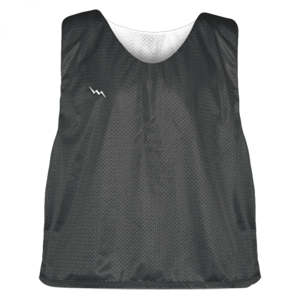 Charcoal+Gray+White+Lacrosse+Pinnies+-+Lax+Pinnies