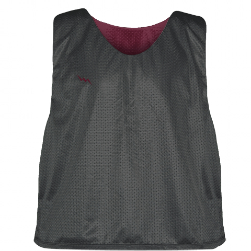 Charcoal+Gray+Maroon+Lacrosse+Pinnies+-+Lax+Pinnies