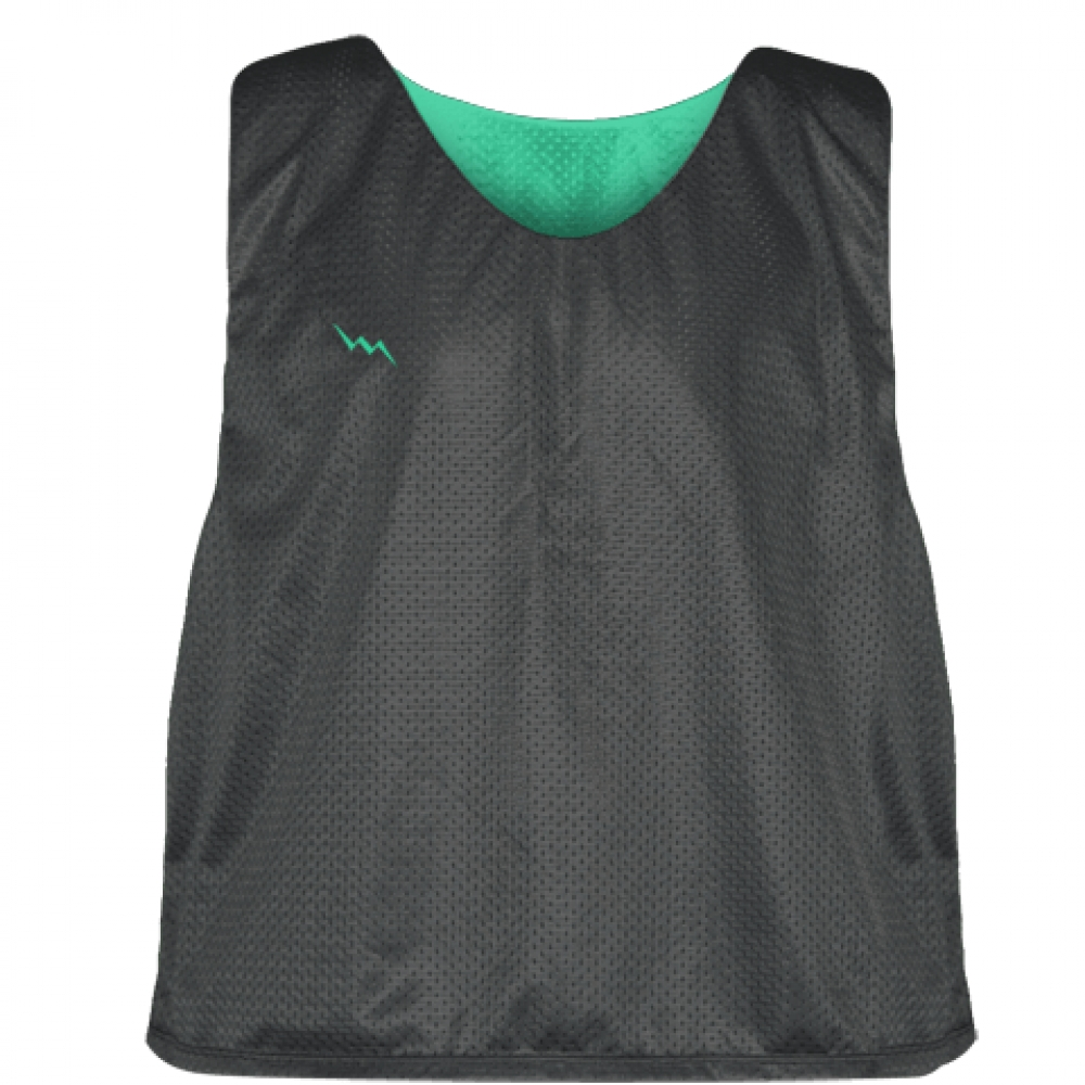 Charcoal+Gray+Teal+Lacrosse+Pinnies+-+Lax+Pinnies