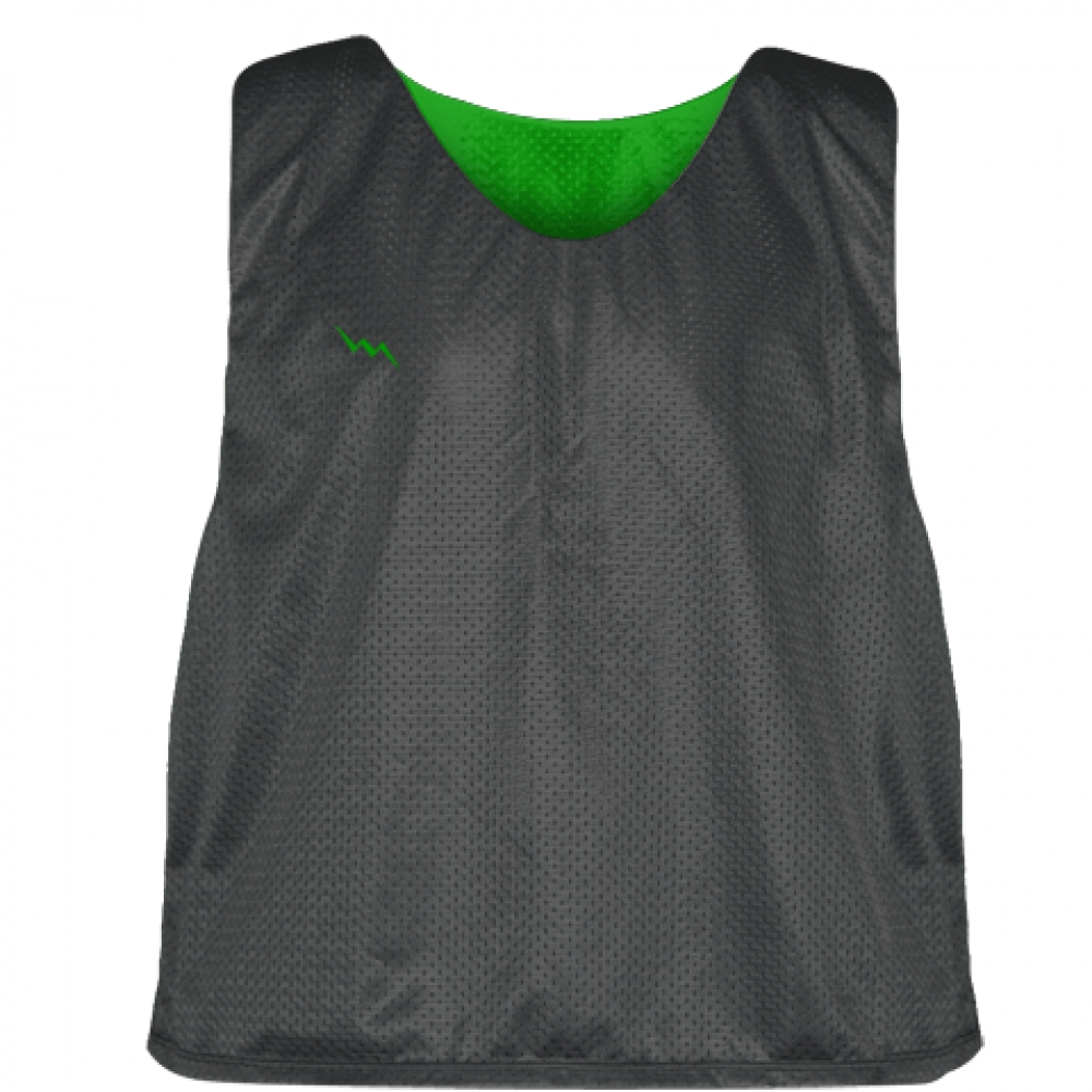 Charcoal+Gray+Kelly+Green+Lacrosse+Pinnies+-+Lax+Pinnies