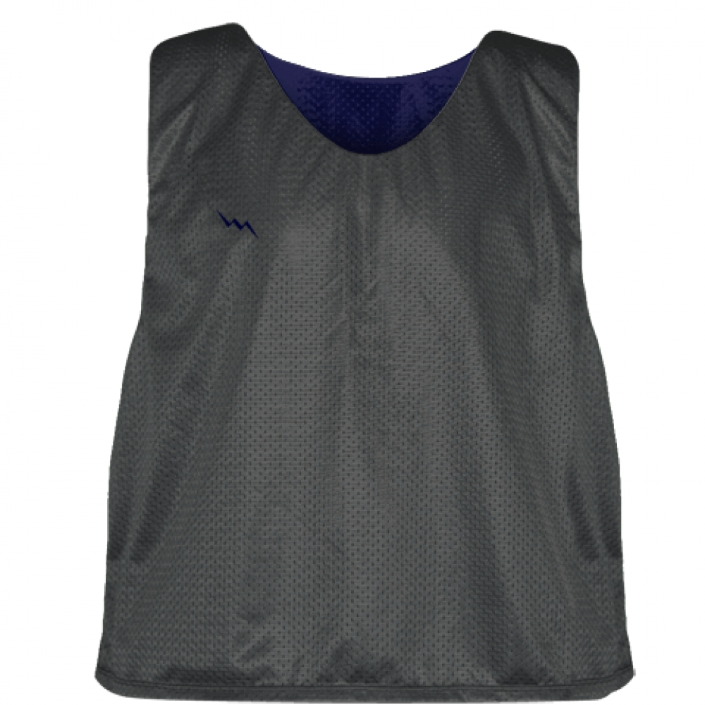 Charcoal+Gray+Navy+Blue+Lacrosse+Pinnies+-+Lax+Pinnies