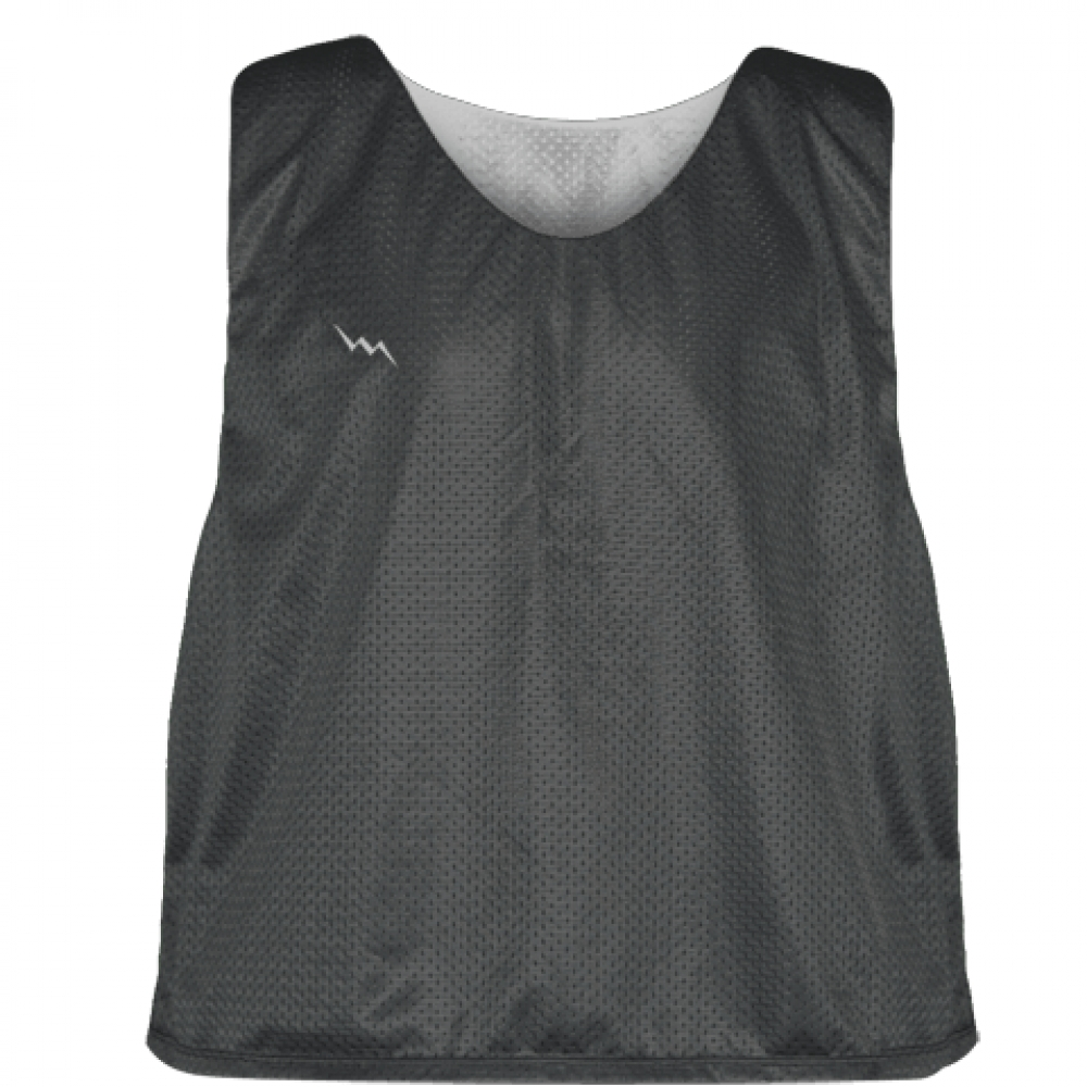 Charcoal+Gray+Silver+Reversible+Lacrosse+Pinnies+-+Lax+Pinnies