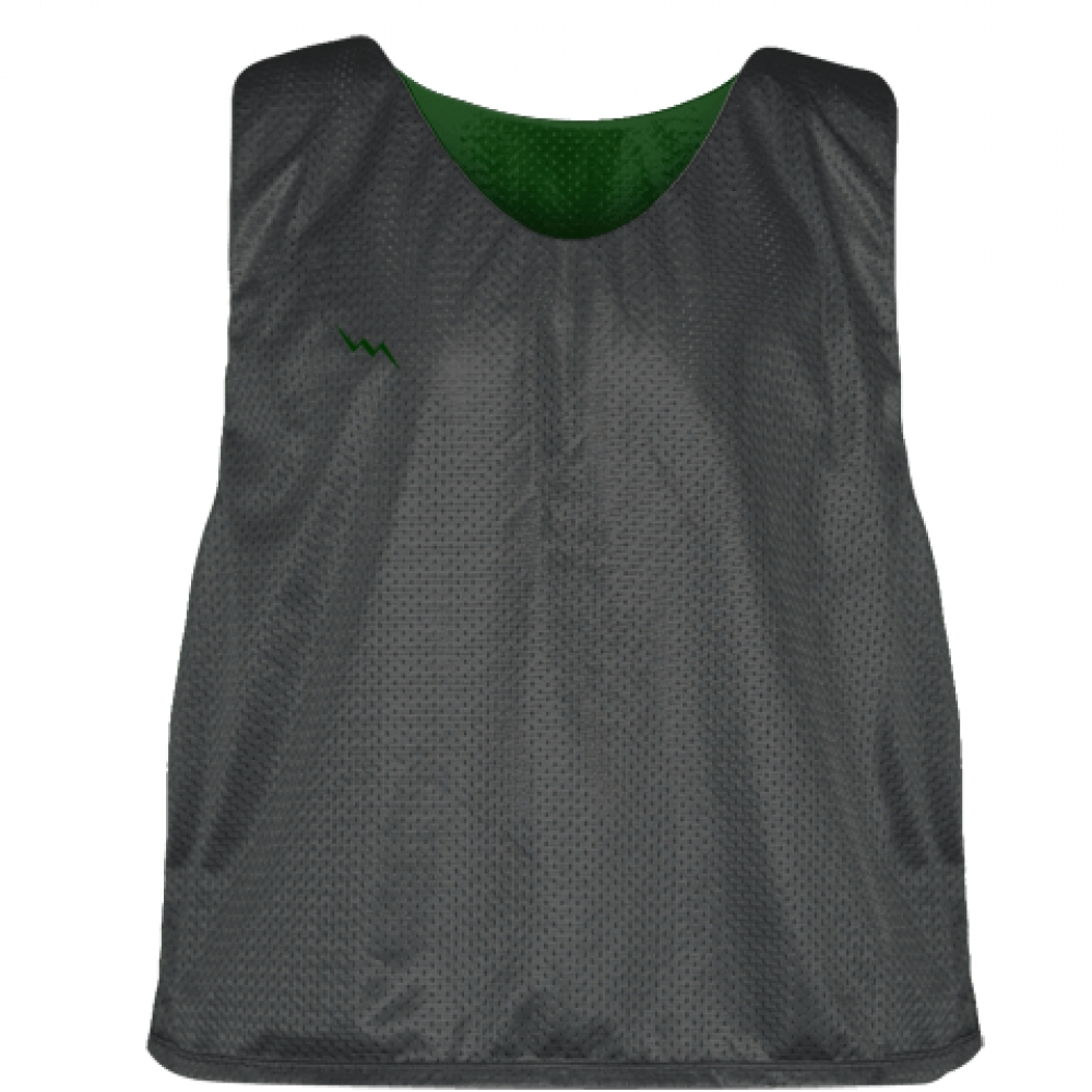 Charcoal+Gray+Forest+Green+Reversible+Lacrosse+Pinnies+-+Lax+Pinnies