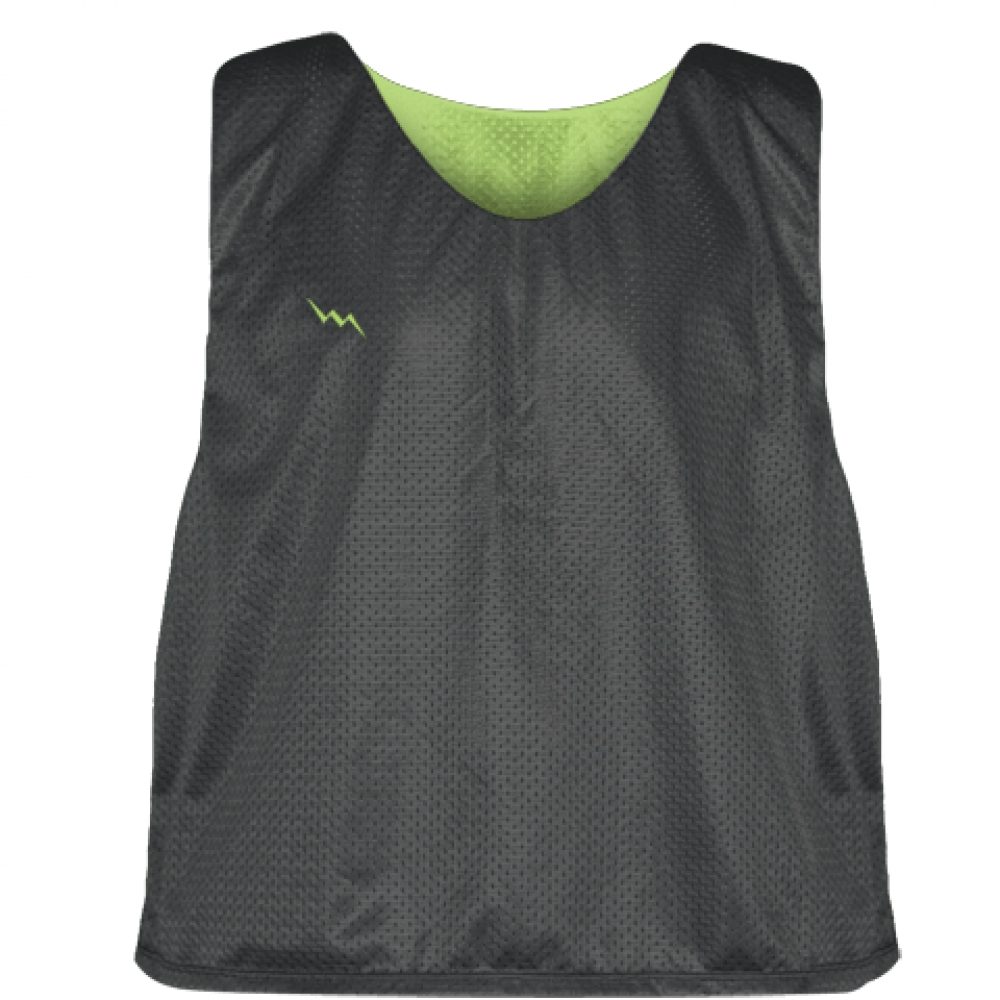 Charcoal+Gray+Lime+Green+Reversible+Lacrosse+Pinnies+-+Lax+Pinnies