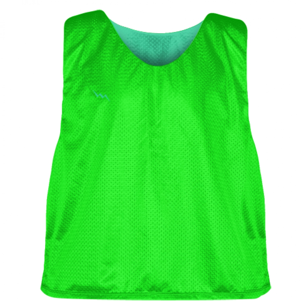 Neon+Green+Teal+Reversible+Lacrosse+Pinnies+-+Lax+Pinnies