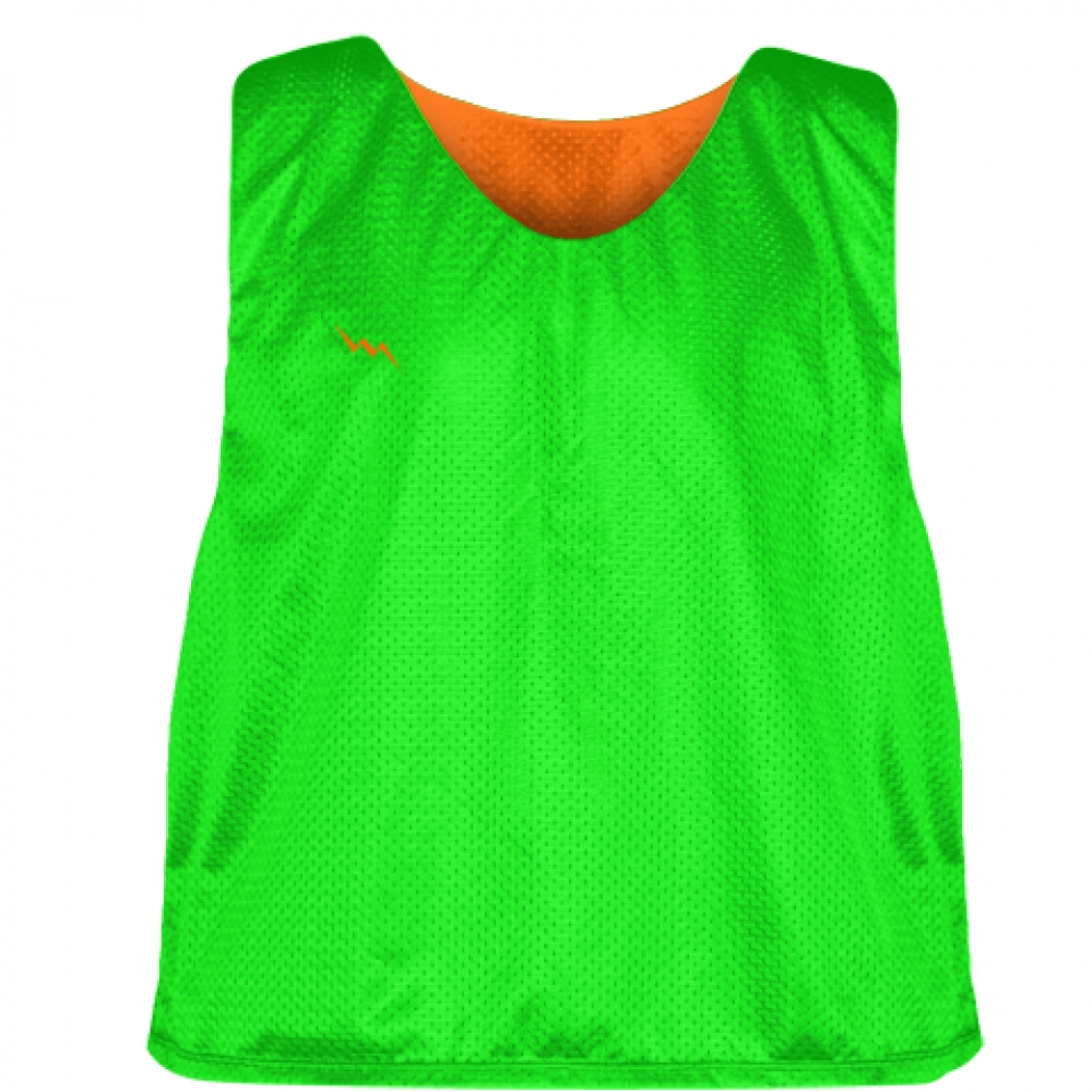Neon+Green+Orange+Reversible+Lacrosse+Pinnies+-+Lax+Pinnies