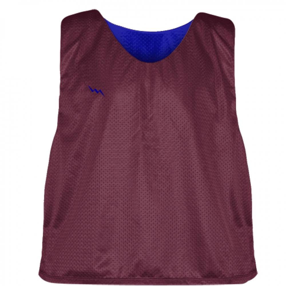 Maroon+Royal+Blue+Mesh+Lacrosse+Pinnies+-+Lacrosse+Reversible+Jerseys