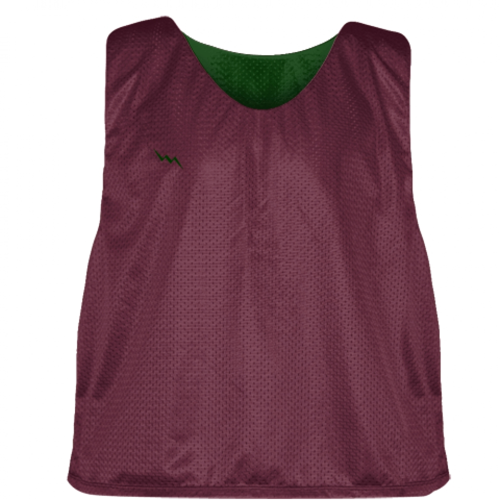 Maroon+Forest+Green+Mesh+Lacrosse+Pinnies+-+Lacrosse+Reversible+Jerseys