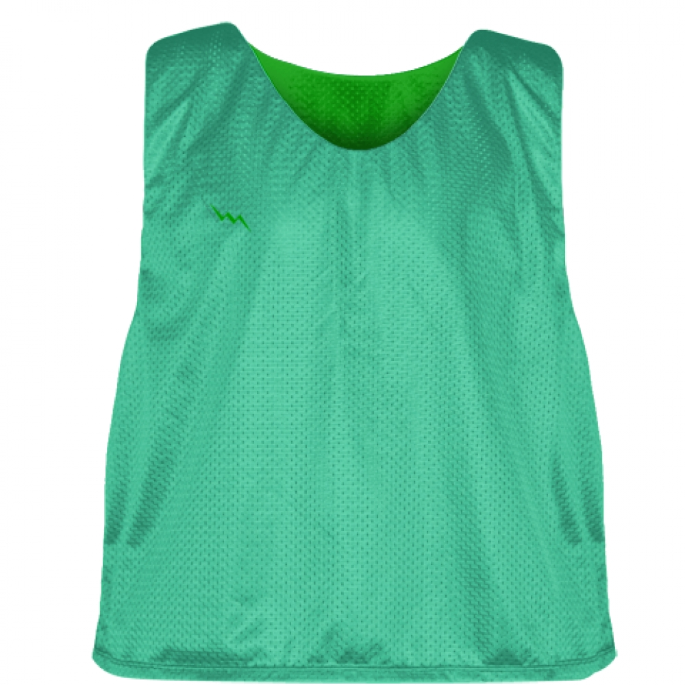 Teal+Kelly+Green+Mesh+Lacrosse+Pinnies+-+Lacrosse+Reversible+Jerseys